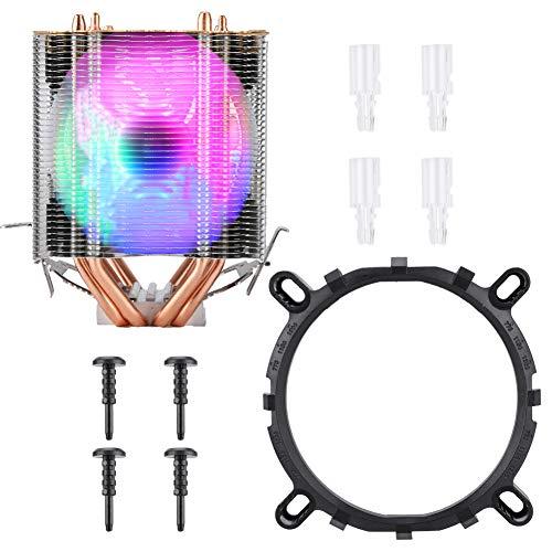 Petyoung Enfriador de CPU Tipo Torre de Hielo de Alta Calidad Agregar Cubierta Ventilador de Refrigeración 9Cm Radiador de Cobre