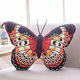 OLOEY Almohada Creativa Linda muñeca de la Mariposa de Peluche de Juguete 40 * 50cm Naranja