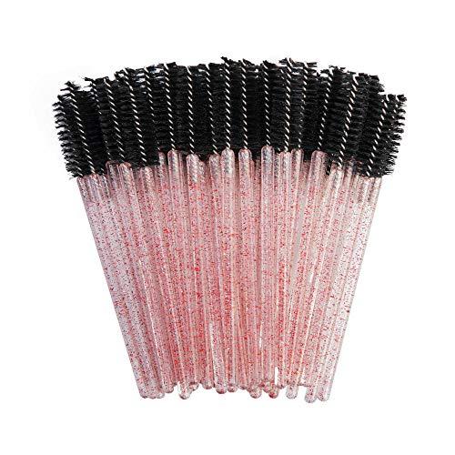 Bonne Qualité Jetable 200 Pcs/Pack Cristal Cils Maquillage Brosse Diamant Poignée Mascara Baguettes Cils Extension Outil-New Black