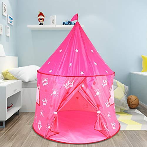 Kinderen Indoor Tent, Opvouwbare Indoor Tulle Hex Dome Ball Pool Kasteel Tent Geschikt voor Jongens en Meisjes Geschenken