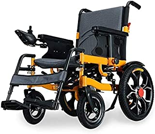Intelligent Electric Wheelchair Folding Collapsible Light Elderly Elderly Disabled Scooter Automatic Folding Powerchair 30Km jh / 20KM SZWHO (Color : 30km)