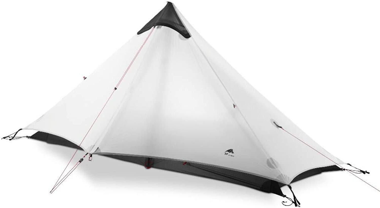 MDZH Zelt 1 Person Outdoor Ultralight Camping Zelt Man 3 Season Professionelles 15D Rutenloses Zelt