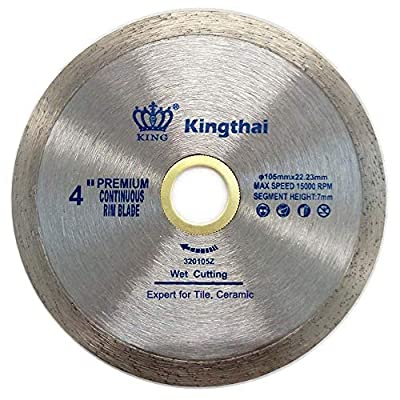 Kingthai Extreme Diamond Saw Blade Continuous Wet Cutting for Ceramic Porcelain Tiles