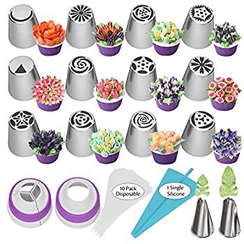 Best russian flower piping tips Reviews