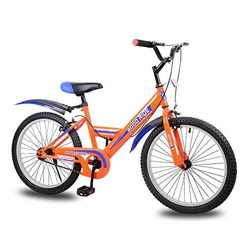 Domrx Processo di Saldatura ad Arco ad Argon a velocità Singola per Bicicletta per Bambini per Bambini di età Compresa tra 8-12-Orange_46cm (165cm-170cm)