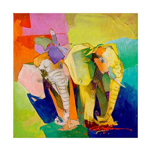 Trademark Fine Art Elephant and The Butterfly III by Yuval Wolfson, 14x14, Multiple