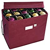 612 Vermont Christmas Ornament Storage Box with Adjustable Acid-Free Dividers, 4 Removable Trays with Handles, 16.25 Inch x 10 Inch x 13 Inch, Holds 60 - 3 Inch Ornaments