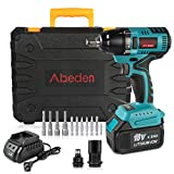 Cordless Impact Wrench Set,18V 4.0Ah Battery Brushless Motor Impact Driver Kit,1/2'' Chuck,Max Torque 295 ft-lbs,Variable Speed,5pc Socket Bits,6pc Driver Bits,Power Tool Case