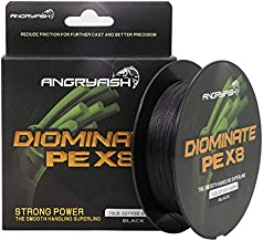 ANGRYFISH 8 Strands Braided Fishing Line-Excellent Tensile Smooth-Super Strong for Saltwater and Freshwater-High Value(Black,80LB/0.50MM-327YD)