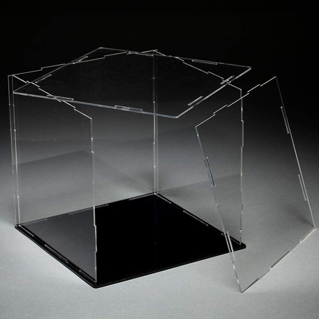 BINGBIAN Pr/ésentoir en acrylique transparent pour comptoir Bo/îte de rangement Cube Organisateur de protection anti-poussi/ère Mod/èle de jouet Vitrine daction Figures