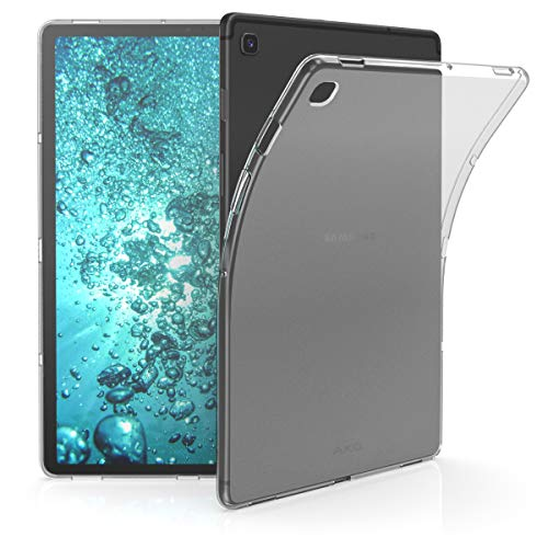 kwmobile Hülle kompatibel mit Samsung Galaxy Tab S5e - Silikon Case transparent - Tablet Cover Matt Transparent