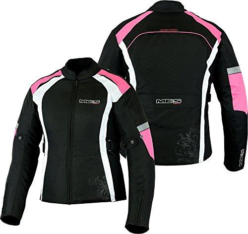 MBSmoto MJ24 Chaqueta moto moto para mujer Touring Chaqueta textil impermeable a prueba de viento (rosa bebé, S)
