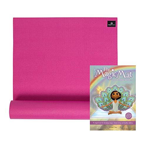 The Magic Mat & Kids Yogamatte, 4,5 mm, inkl. DVD (evtl. nicht in deutscher Sprache), Pink