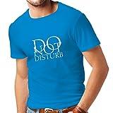 lepni.me T-Shirt pour Hommes Ne Pas déranger - Citations drôles - Cadeau (XX-Large Bleu Blanc)