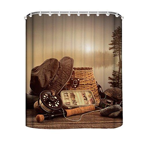 GD-designs Rideau de douche décoratif Cowboy - En polyester - Imperméable - Anti-moisissure - Lavable en machine - 180 x 180 cm
