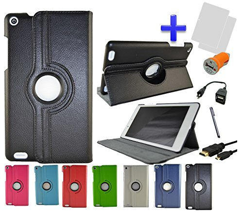 Pack 7 en 1 Funda para Tablet Bq Edison 3 Mini 8' Color Negro