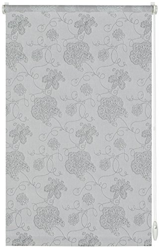 Gardinia EASYFIX Rollo Dekor 721 Stickerei silber 90 x 210 cm