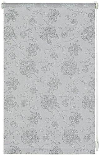 Gardinia Easyfix Tenda a Rullo con Morsetto di Fissaggio o Adesiva, Tessuto, Grigio, 90x210