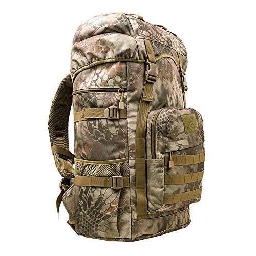 BEI Sac à Dos Outdoor Oxford Sac à Dos d'escalade extérieur, mâle et Femelle général, randonnée pédestre, Sac à Dos Grande capacité 50L, Sac à Dos Tactique Camouflage,50L,D