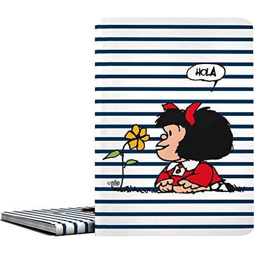 Mafalda 1332413. Carpeta de 30 Fundas Transparentes, Din A4, Tapas de Polipropileno, Modelo Marinera