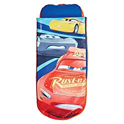 2 in 1 Cars 3 airbed and sleeping bag from ReadyBed With pump and handy carry bag included you'll go from bag to bed in minutes Cosy, machine washable cover means you can keep the air bed cover and sleeping bag snuggly, clean and fresh Ideal camping ...