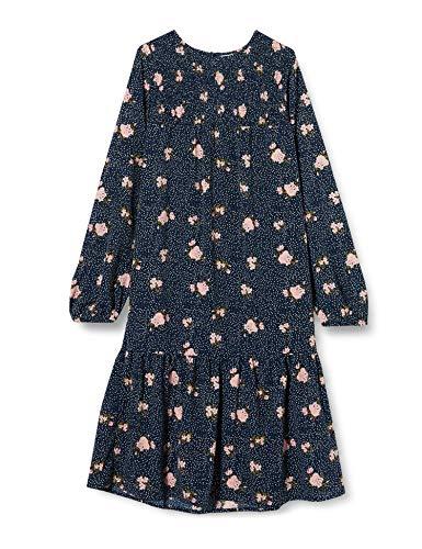 NAME IT Mädchen NKFVINAYA LS MIDI Smock Dress F Kleid, Dark Sapphire, 116