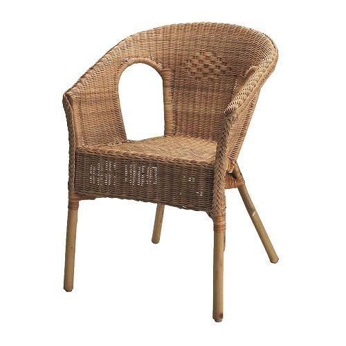 2 x Ikea AGEN - stoel, rotan, bamboe
