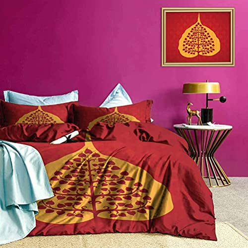 Juego de Funda nórdica Artistic Bodhi Tree Yoga Soft Lightweight Coverlet Colores agradables y Vibrantes