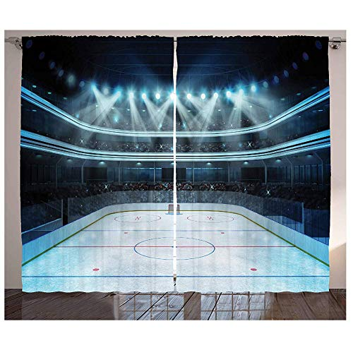 MUXIAND Hockey gordijnen foto Een Sportarena vol mensen fans publieumsturnier kampioenschap match woonkamer slaapkamer raam