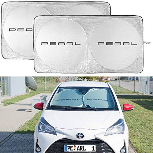 infactory Sonnenblende: 2er-Set Universal-Sonnenschutzfolie für die Windschutzscheibe (Frondscheiben Schutz Auto)