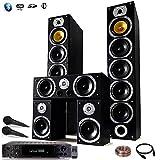 Heimkino-Set Hifi Karaoke Home Sound 1240 W + Verstärker 360 W + 25 m Verbindungskabel + 2 Mikrofone