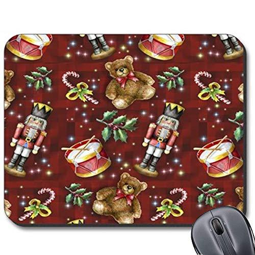 Nussknacker-Mauspad mit Anti-Rutsch-Gummi-Unterseite, für Computer/Notebook/Mac 19,1 x 23,4 cm