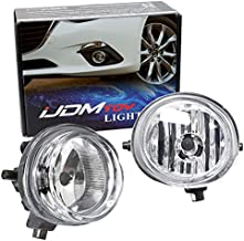 iJDMTOY Pair of Clear Lens Halogen Fog Lamps Compatible With Mazda 2 3 6 CX-5 CX-7 MX-5 etc, Driver Passenger Side Assembly w/ (2) 55W H11 Halogen Bulbs