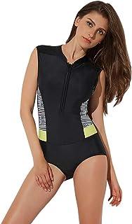 LRWEY Rash Guard Long Sleeve Zip UV Protection Surfing