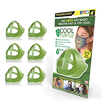 BulbHead As Seen On TV Cool Turtle Enhancer Keep You Cool & Dry All Day Reduce Friction ? Face Mask Inner Support Frame Helps You Breathe Easier ? Washable & Fits Men and Women, One Size, Green
