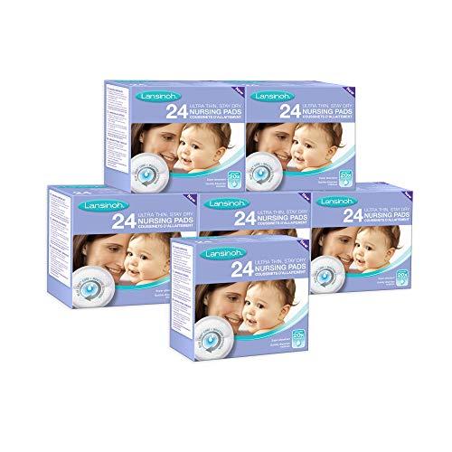 Discos Absorbentes de Lactancia Desechables Blue Lock. Discos ultra absorbentes y a prueba de fugas. 6 packs de 24 unidades cada uno