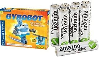 Thames and Kosmos Gyrobot-Gyroscopic Robot Kit with AmazonBasics AAA Batteries Bundle
