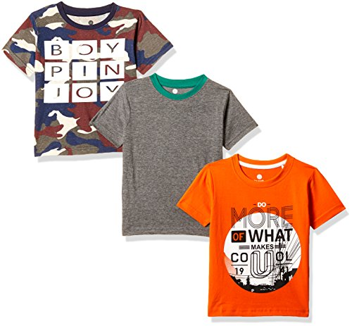 Cloth Theory Boys' Regular Fit T-Shirt (Combo Pack of 3)(CTKR 008_Multi_3-4 Years)