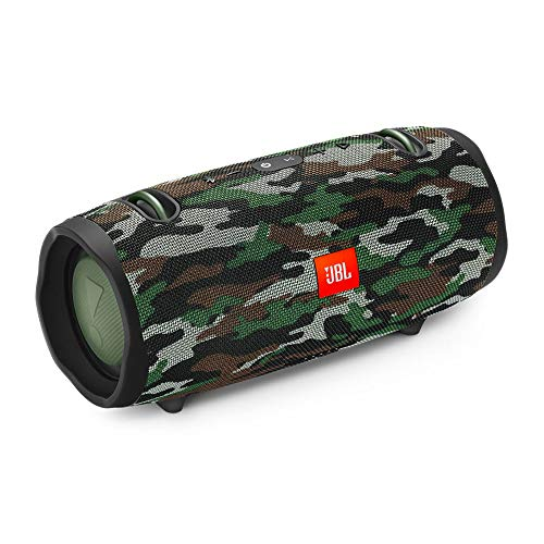 JBL Xtreme 2 Portable IPX7 Waterproof Wireless Bluetooth Speaker Squad Camo, with 10W Wireless Pad Charger