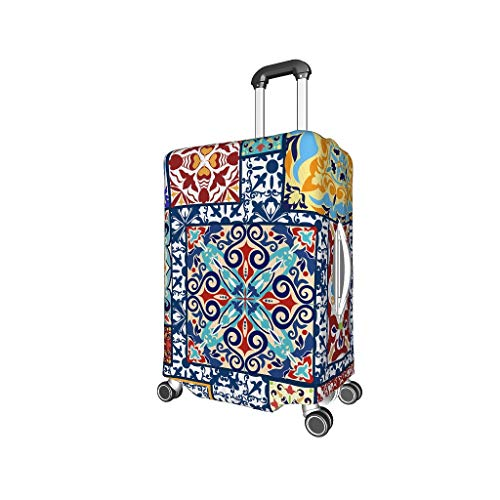 XHJQ88 Pattern Ethnic Pattern Travel Luggage Covers - Ethnic Pattern Elastic 4 Sizes fits Lots of Suitcase Black m (22-24 inch)