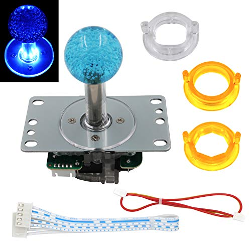SJ@JX Arcade LED Joystick SANWA Style Fight Game Joystick LED Stick Retro Joy Circular Octagonal Limiter for Retro Pie Raspberry Pi MAME Jamma
