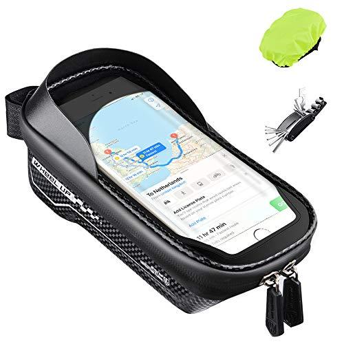 Oziral Bolsas de Bicicleta Bolsa Impermeable para Bicicleta con Pantalla Táctil, Gran Capacidad Bolsas de Bicicleta Soporte Telefono Móvil para Teléfono Inteligente por Debajo de 6,5 Pulgadas