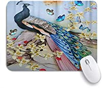 KAPANOU マウスパッド、美しい孔雀の水彩画クリエイティブかわいい動物ゴージャスエレガント おしゃれ 耐久性が良い 滑り止めゴム底 ゲーミングなど適用 マウス 用ノートブックコンピュータマウスマット