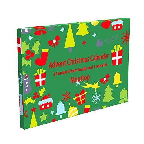 Mouttop Chirismas Countdown Advent Calendar 2019, Innovative DIY Chrismas Gifts for Kids, Girls ,Women Jewelry Accessories