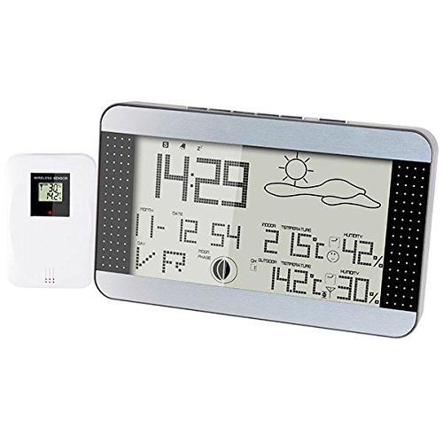 ALECTO WS-1700 Station météo Digitale, Noir, 29,1 x 2,7 x 16,1 cm