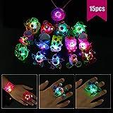 Herefun LED Blinkende Ringe LED-Leucht Spielzeug Finger Licht LED-Armbänder Leucht Halskette, Glow...