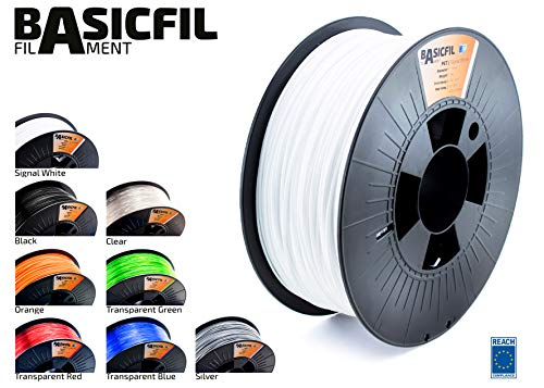 BASICFIL PET 1.75mm 1 kg, WEIß (white), 3D Drucker Filament