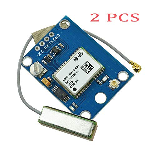 Aideepen GY-GPS6MV2 NEO-6M GPS-Modul Positionsmodul mit Antenne Flugsteuerung GPS Board für Arduino MWC IMU APM2