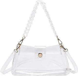 Lam Gallery Transparente Handtasche aus PVC mit Kunstharzkette