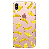 Blingy's iPhone XR Case, New Fruits Style Transparent Clear Soft TPU Protective Case Compatible for iPhone XR (Banana)